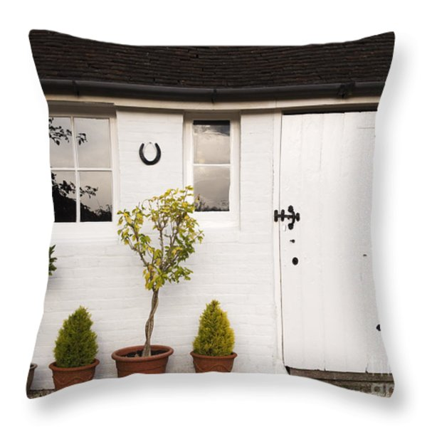 The Old Shed Throw Pillow by Louise Heusinkveld