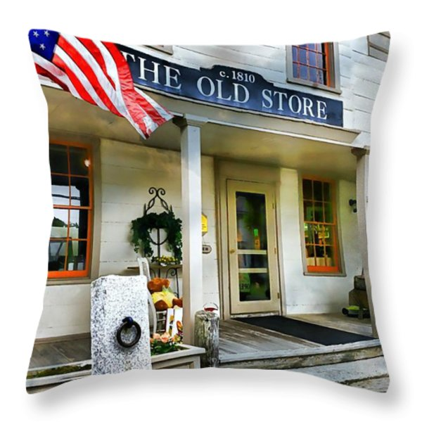The Old Store Throw Pillow by Diana Angstadt