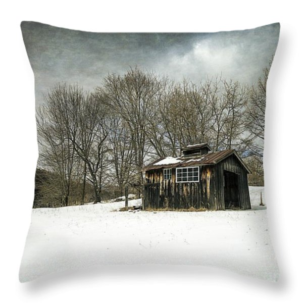 The Old Sugar Shack Throw Pillow by Edward Fielding