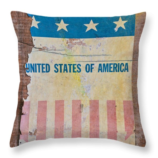 The Old Tag Throw Pillow by Martin Bergsma