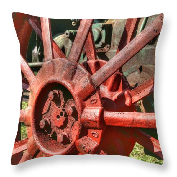 The Old Wheel Throw Pillow by Michael  Allen