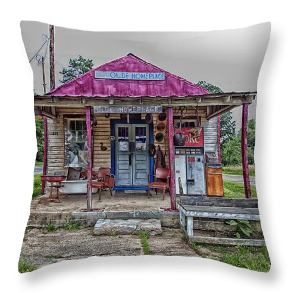 The Olde Home Place Throw Pillow by Mountain Dreams