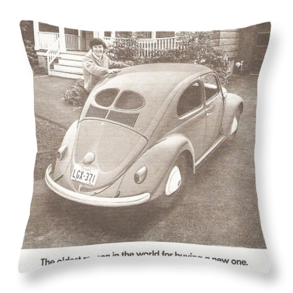 The Oldest Reason In The World For Buying A New One Throw Pillow by Nomad Art And  Design