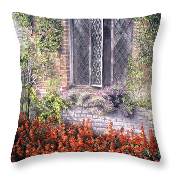 The Open Window Throw Pillow by Rosemary Colyer