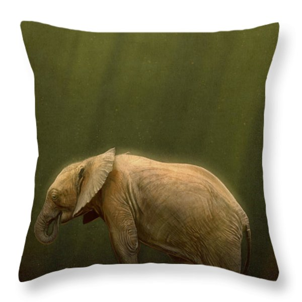 The Orphin Throw Pillow by Aaron Blaise