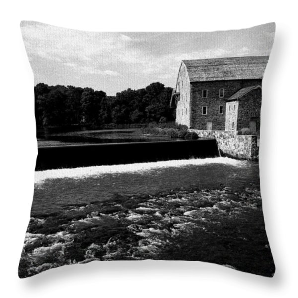 The Other Mill Throw Pillow by Val Arie