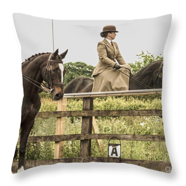 The other side of the saddle Throw Pillow by Linsey Williams