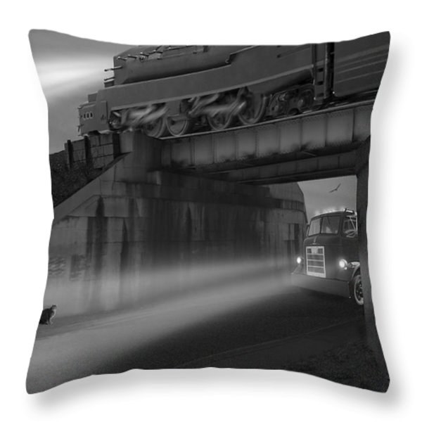 The Overpass Throw Pillow by Mike McGlothlen