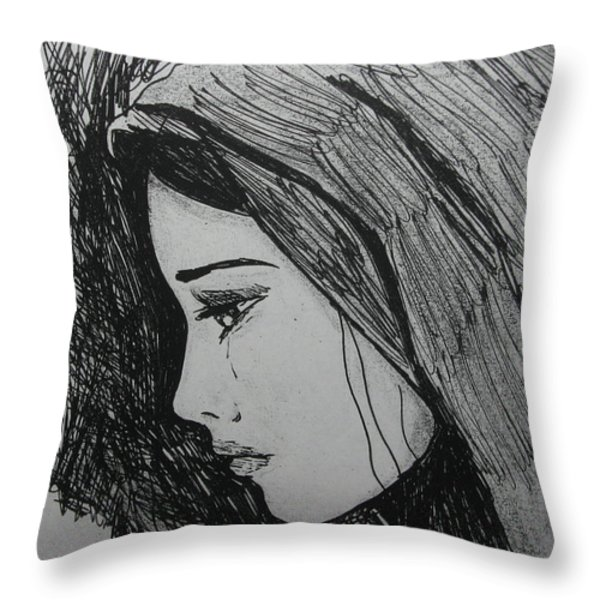 The Pain Of Parting Throw Pillow by Donatella Muggianu