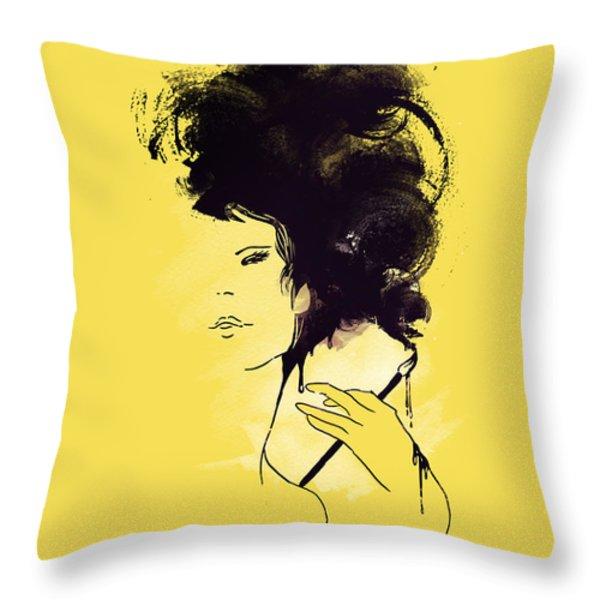 The painter Throw Pillow by Budi Satria Kwan