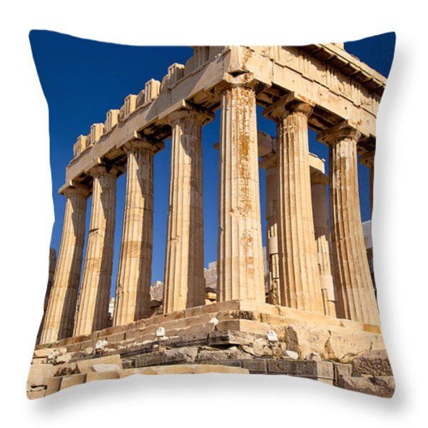 The Parthenon Throw Pillow by Brian Jannsen