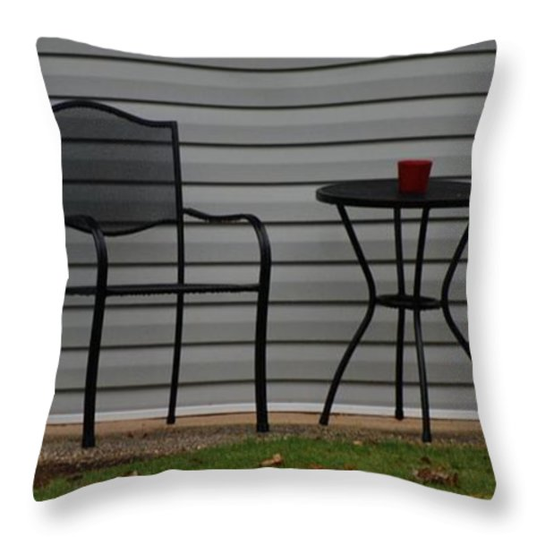 THE PATIO in LIVING COLOR Throw Pillow by ROB HANS