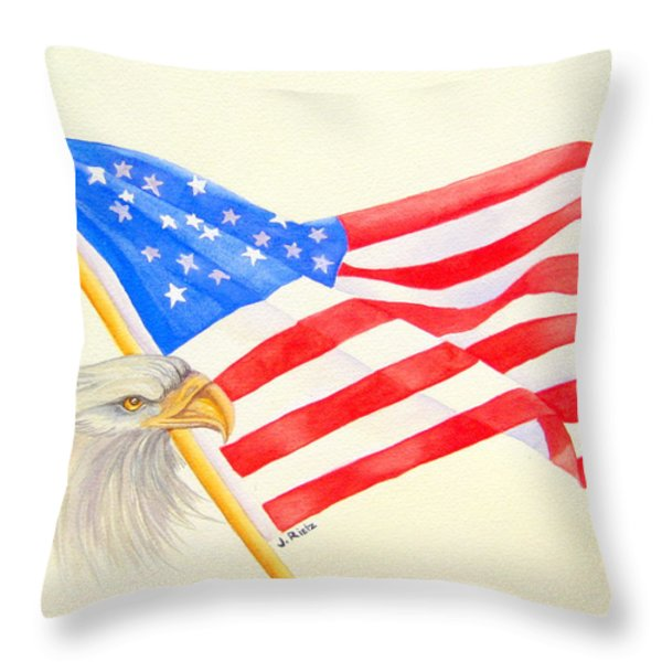The Patriot Throw Pillow by Julia Rietz