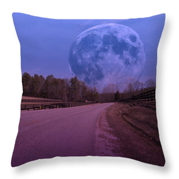 The Peace Moon  Throw Pillow by Betsy A  Cutler