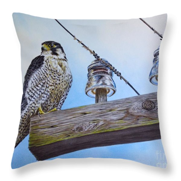 The Perfect Predator Throw Pillow by Greg Halom