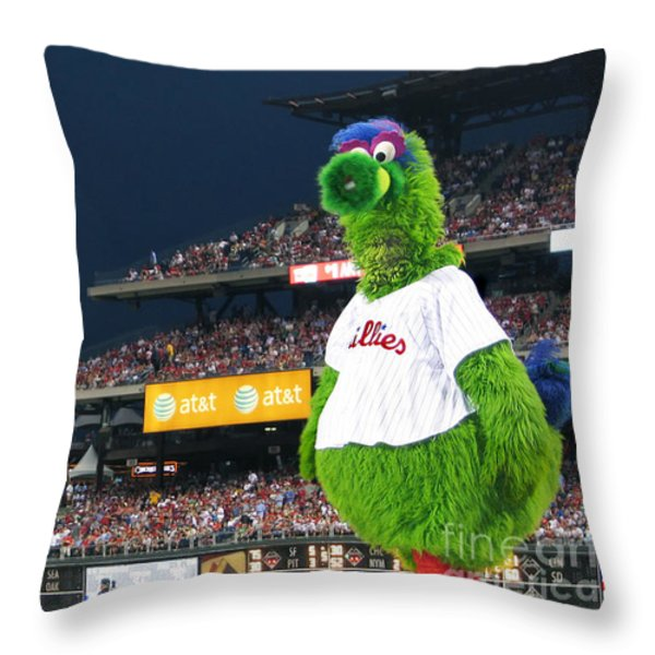 The Phanatic Throw Pillow by Geoff Crego