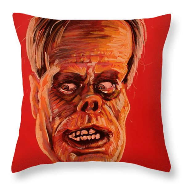 The Phantom of the Opera Throw Pillow by Brent Andrew Doty