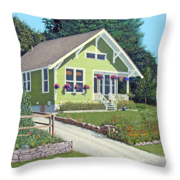 The Pickles house Throw Pillow by Gary Giacomelli