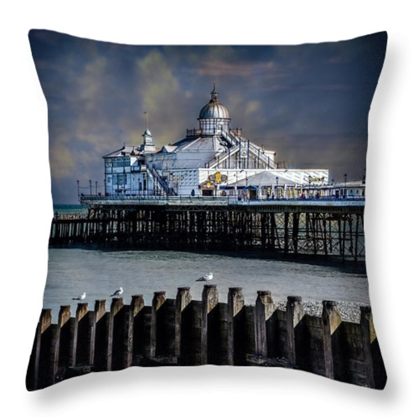 The Pier At Eastbourne Throw Pillow by Chris Lord