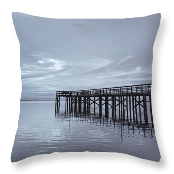 The Pier Throw Pillow by Kim Hojnacki