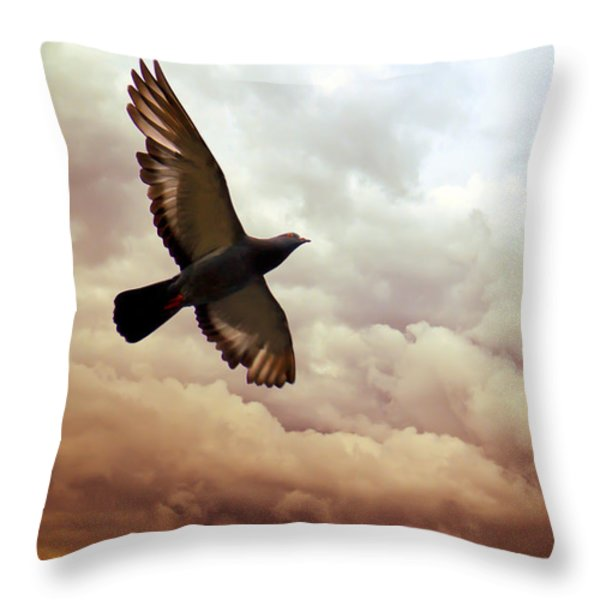 The Pigeon Throw Pillow by Bob Orsillo