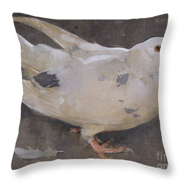 The Pigeon Throw Pillow by Joseph Crawhall