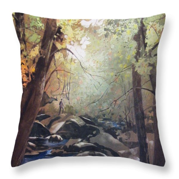 The Pilgrimage Throw Pillow by Kris Parins