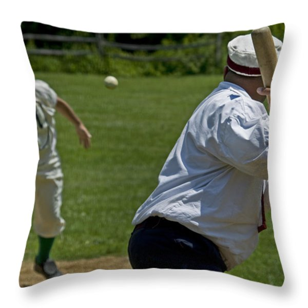 The Pitch Throw Pillow by Alida Thorpe