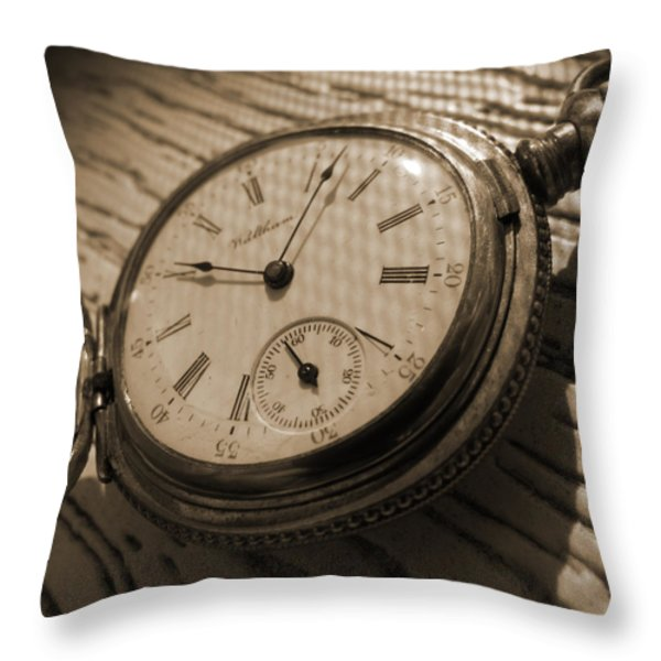 The Pocket Watch Throw Pillow by Mike McGlothlen