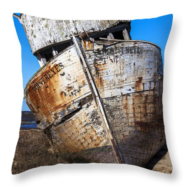 The Point Reyes Throw Pillow by Garry Gay