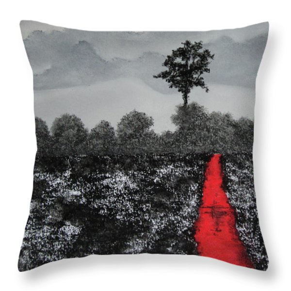 The Poison Stream Throw Pillow by Stanza Widen