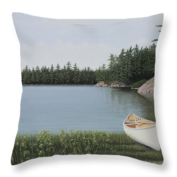 The Portage Throw Pillow by Kenneth M  Kirsch