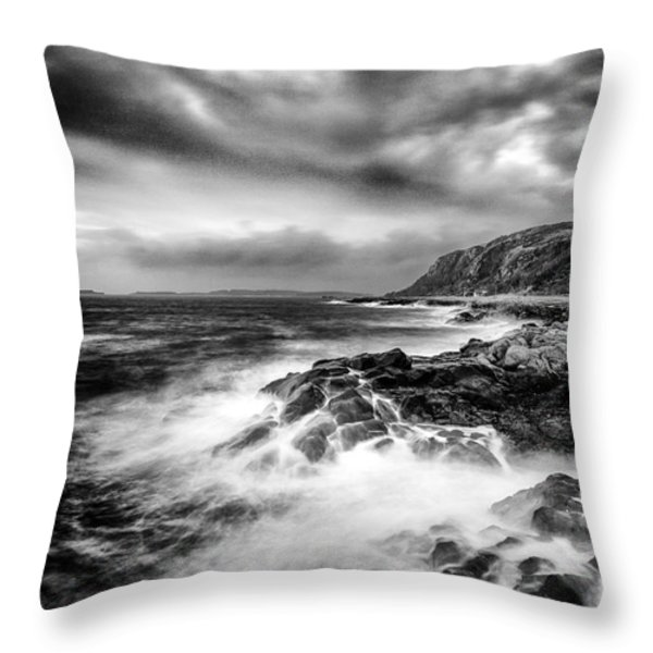 The power of Nature Throw Pillow by John Farnan