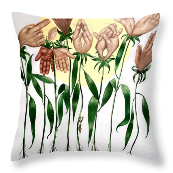 The Prayer Garden Throw Pillow by Anthony Falbo