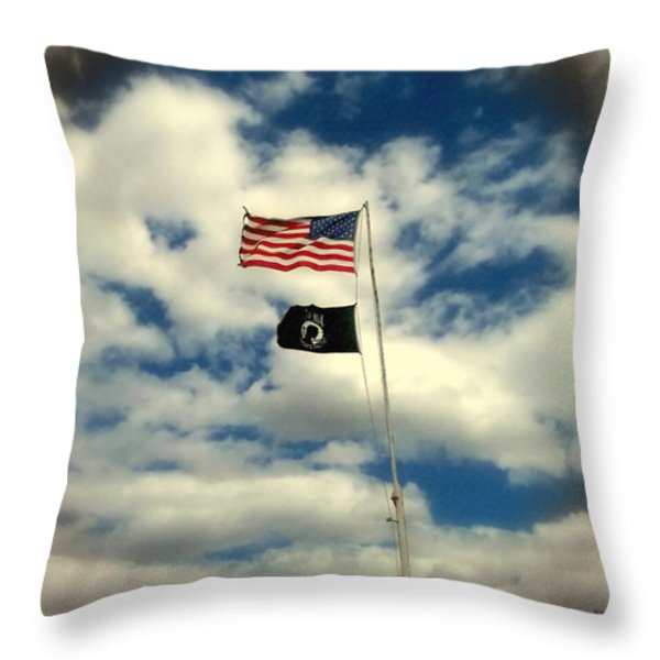 The Price Of Freedom Throw Pillow by Glenn McCarthy Art and Photography