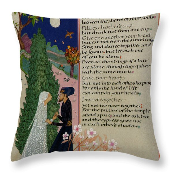 The Prophet - Kahlil Gibran  Throw Pillow by Dave Wood