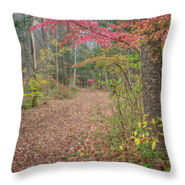 The Psychedelic Forest Throw Pillow by Bill  Wakeley