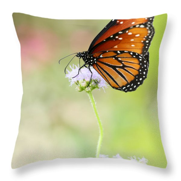 The Queen In Spring Throw Pillow by Sabrina L Ryan