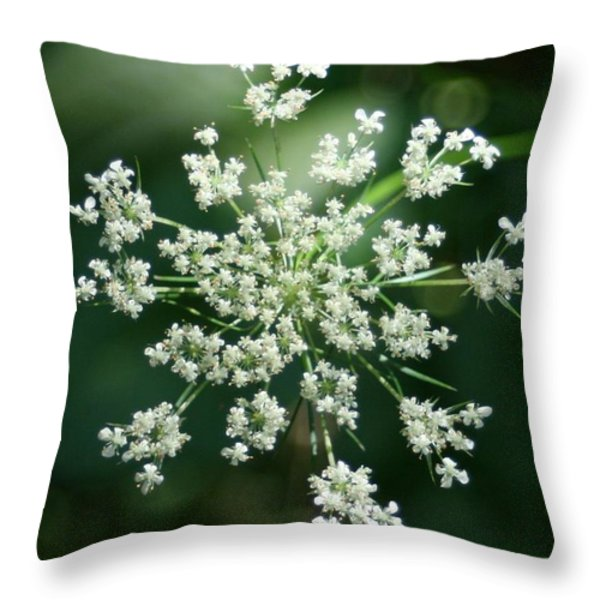 The Queen Of Lace Throw Pillow by Barbara S Nickerson