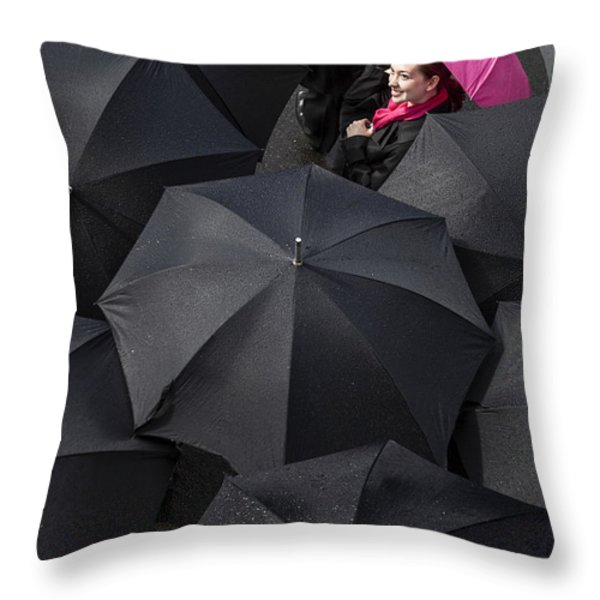 The Rain is Over Throw Pillow by Diane Diederich