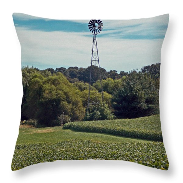 The Real Greening Throw Pillow by Skip Willits