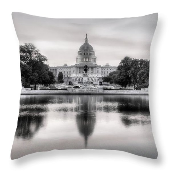 The Republic Awakens BW Throw Pillow by JC Findley