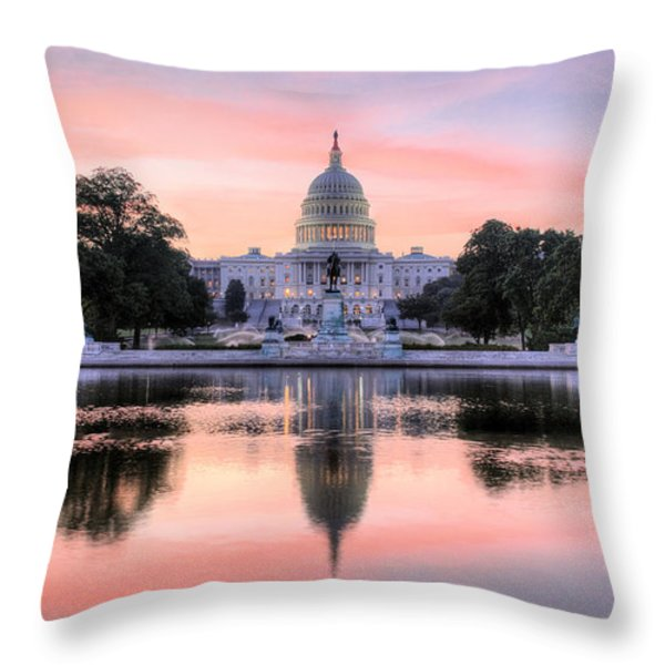 The Republic Awakens Throw Pillow by JC Findley