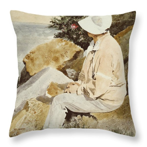 The Respite Throw Pillow by Monte Toon