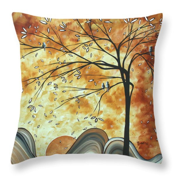 The Resting Place By Madart Throw Pillow by Megan Duncanson
