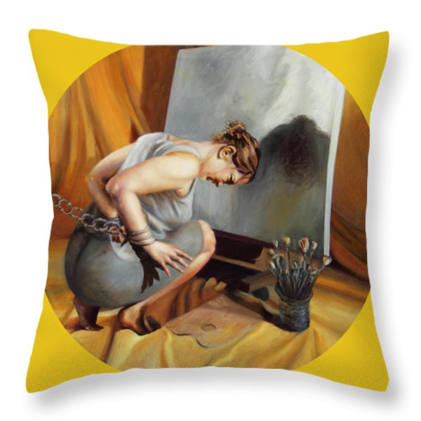 The Restricted Throw Pillow by Shelley  Irish