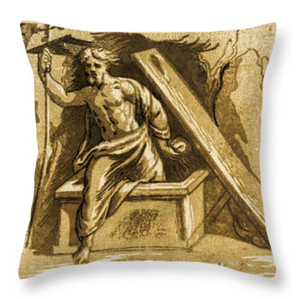 The Resurrection Throw Pillow by Aged Pixel
