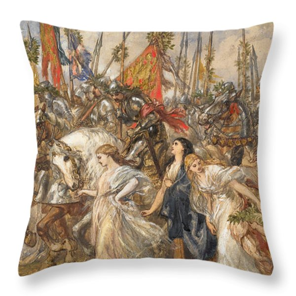 The Return Of The Victors Throw Pillow by Sir John Gilbert