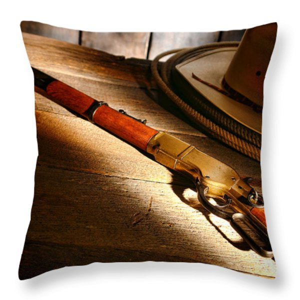 The Rifle Throw Pillow by Olivier Le Queinec