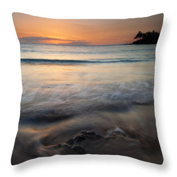 The Rise and Fall Throw Pillow by Mike  Dawson